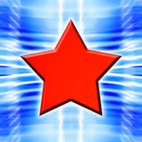 Red Star on Blue Royalty Free Stock Images