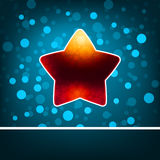 Red star on blue abstract Happy New Year. EPS 8 Stock Photos