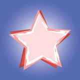 Red star on blue background Royalty Free Stock Photo
