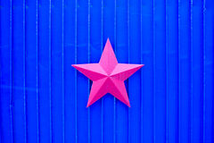 Red Star on Blue Royalty Free Stock Image