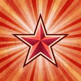 Red star burst army background Stock Photos