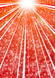 Red star burst background. Red burst background of lights and beams royalty free illustration