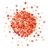 Red Star Burst Isolated. On White Background Royalty Free Stock Photo