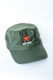 Red star cap on white background Stock Photo