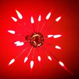 Red star chandelier Stock Images