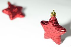 Red star for christmas background Stock Photos