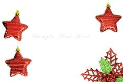 Red star for christmas background. Royalty Free Stock Photo