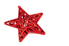 Red star for christmas Stock Photos