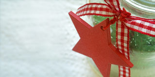 Red star for christmas decoration Stock Photo