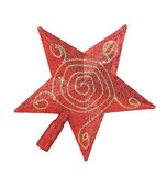 Red star christmas decoration. Stock Photos