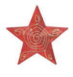 Red star christmas decoration. Stock Image
