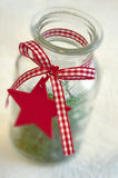 Red star for christmas decoration Stock Photography