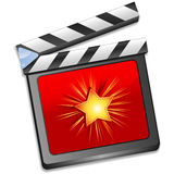 Red star clapper board vector Royalty Free Stock Photos