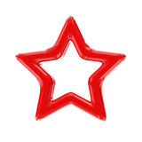 Red star. 3d render with HDR Royalty Free Stock Photography