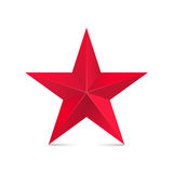 Red star 3d. Vector isolated on white Stock Image