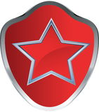 Red star emblem Stock Image