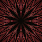 Red Star Fractal As A Flower Concept With Shining Royalty Free Stock Photography