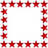 Red star frame Stock Photography