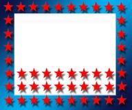 Red Star Frame. Computer generated US flag star frame Vector Illustration
