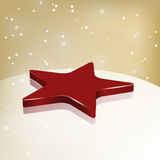 Red star on glass Stock Images