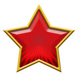 Red Star in Gold Stock Photos
