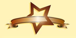 Star  and ribbon Stock Image