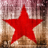 Red star on grunge background Royalty Free Stock Image