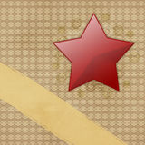 Red star on grunge paper Royalty Free Stock Photo