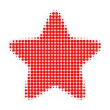 Red Star Halftone Dotted Icon royalty free illustration