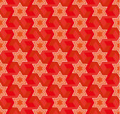 Red star hexagon. Royalty Free Stock Images