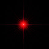 Red star isolated copy space Royalty Free Stock Photography
