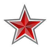 Red star. Isolated on white background Stock Image