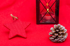 Red star and lantern Royalty Free Stock Photo