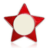 Red star metal sign Royalty Free Stock Photography