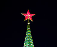 Red star of Moscow Kremlin, Russia Stock Photos