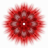 Red star ornamental tile Stock Images