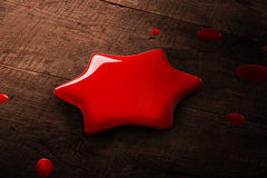 A red star paint splash Royalty Free Stock Photography