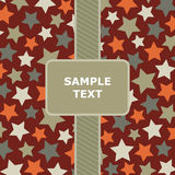 Red star pattern Stock Photos