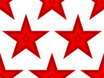 Red star pattern Stock Images