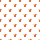 Red star pattern. Seamless repeat in cartoon style vector illustration Stock Image