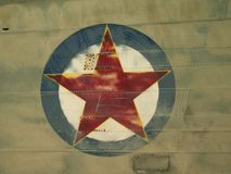 Red Star on Plane Royalty Free Stock Images