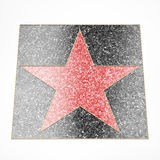 Red star plate Royalty Free Stock Photography