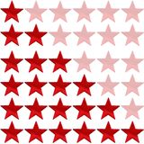 Red star rating. Two red stars on a white background Stock Photography