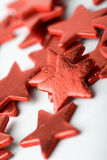 Red star shape Christmas decorations Royalty Free Stock Image