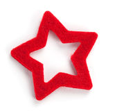 Red star shaped christmas decoration Royalty Free Stock Photography