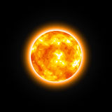 Red Star Shiny Sun. Illustration of Fire Planet Stock Images