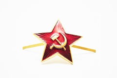 Red star with a sickle and a hammer from the USSR Royalty Free Stock Image