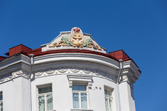 Red star soviet symbol on the roof in Tallinn Stock Images