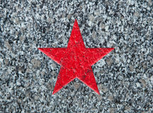 Red star on Soviet War Memorial. Red star depicted on the Soviet War Memorial in Roudnice nad Labem in Central Bohemia, Czech Republic stock image