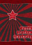Red Star - Special Menu Stock Photography